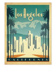 Larger Than Life Prints Los Angeles, California Print   This vintage-inspired print evokes a bygone era and an iconic city's spirit with vivid, detailed giclée printing on fine art-quality paper.