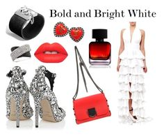 """""""Bold and Bright White"""" by shahida-parides ❤ liked on Polyvore featuring Jimmy Choo, John Hardy, Chanel, Lime Crime, The Collection by Phuong Dang and Mark Broumand"""