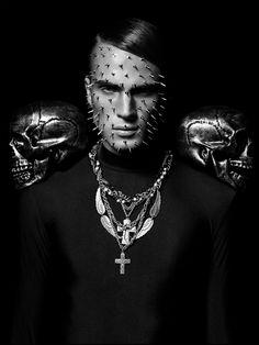 And Men Magazine by david benoliel, via Behance #dark #black #skulls #portrait #fashion #editorial