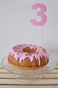 Bundt cake at a donut birthday party! See more party ideas at CatchMyParty.com!