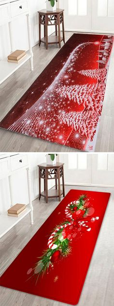 home decor ideas:Christmas bath rugs to decorate your bathroom. Aren't they just gorgeous.#affiliatelink