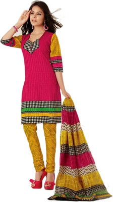 Buy Jevi Prints Cotton Printed Salwar Suit Dupatta Material(Unstitched) Online at Best Offer Prices @ Rs. 1,369/- In India.