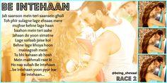 #BEinthehaan #DeepikaPadukone #bollywood #SaifAliKhan #Race2 Saif Ali Khan, Star Quotes, Ldr, Bollywood Stars, Deepika Padukone, Song Lyrics, Songs, Music, Image