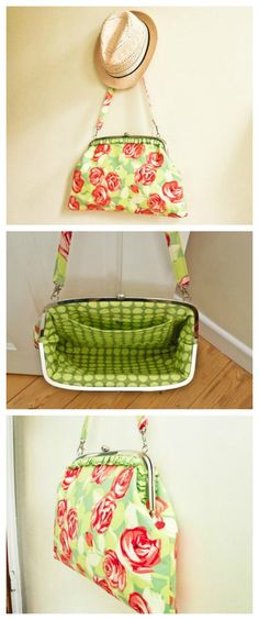 Free sewing pattern for the Betty Handbag.  I love using purse frames, and this large one is perfect for making a really nice purse.  My teen niece has asked for one too in a 'more trendy' fabrics for an evening bag.