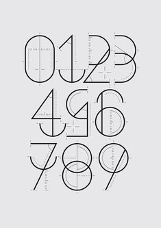 "Numbers designed for a Yorokobu magazine section called ""Numerografía""."