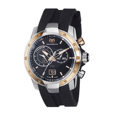 TechnoMarine Men's 611003 UF6 Pink Gold PVD Bezel Watch: Watches: Amazon.com Too expensive but I like this look :-)