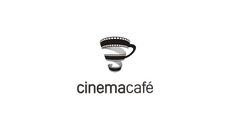 Double meaning logo design inspiration: Cinemacafè