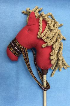 the Stick Horse in Red Linen
