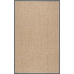 nuLOOM Machine Woven Julie Sisal Area Rug Lt Grey 6 x 9 -- More info could be found at the image url.