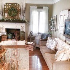 Farmhouse, rustic, shabby chic livingroom