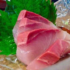 We've been eating. Lots. Here's some pretty and thick hamachi slices! #hamachi…