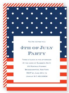 Customizable 4th Of July Party Invitation From FoldedWords