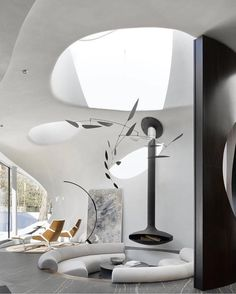 46 Astonishing House Open Concept Ideas With Organic Interiors To Try - Open space often appears as an architectural and spatial concept of linking the living room, dining room, kitchen and other facilities in a harmonious. Futuristisches Design, Design Firms, Home Design, Villa Design, Home Interior, Modern Interior, Interior And Exterior, Interior Design, Interior Livingroom