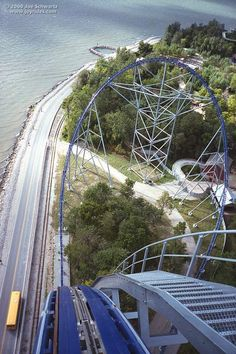 Millennium Force roller coaster at Cedar Point.......no words can Describe the Awesomeness of this