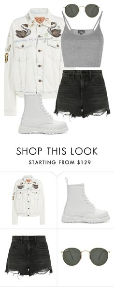 """Summer wear"" by casualbae123 ❤ liked on Polyvore featuring Marc Jacobs, Dr. Martens, Alexander Wang, Ray-Ban and Topshop"