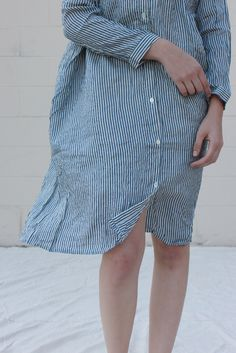 Ichi Antiquites Khadi Stripe Dress