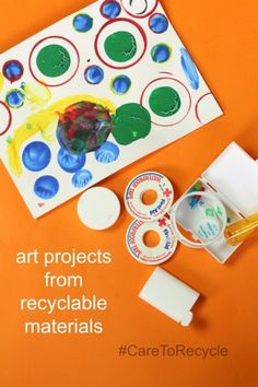 Make groovy art from recycled materials. Saving this idea! (Sponsored)