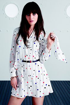 Zooey Deschanel's Tommy Hilfiger Line Is All '60s, All Dresses (Naturally) #refinery29