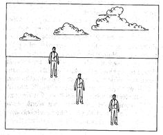 Monocular Cues - Relative height: When objects are lower in the visual field they are perceived as closer.
