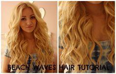 New hair tutorial beach waves curling wands ideas Curled Hairstyles, Trendy Hairstyles, Curling Wand Hairstyles, Country Hairstyles, Beach Waves Curling Wand, New Hair, Your Hair, Beach Wave Hair, Wand Curls