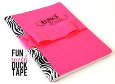 the ever so clever @Heidi Swapp comp book coverd with duck tape...wanna make for my nieces to go back to school with so fun!
