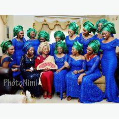 Bridal Party/ Aso-Ebi Inspiration Part 2 Aso Ebi Styles, Ankara Styles, African Fashion, Nigerian Fashion, African Style, Ankara Designs, Nigerian Weddings, Formal Evening Dresses, Wedding Styles