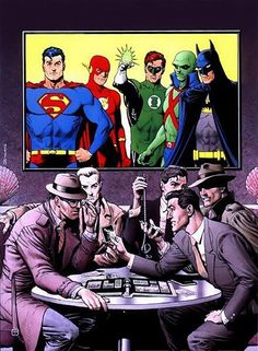 Clark Kent, Barry Allen, Hal Jordan, J'onn J'onzz & Bruce Wayne by •Brian Bolland