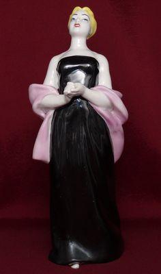 Soviet Russian Porcelain Figurine Polonnoe ZHK Lady Singer Made in USSR.