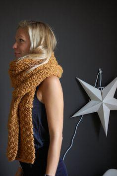 Masta écharpe au point noisette #scarf #tricot #knit