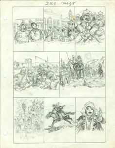 Hal Foster - Prince Valiant 2100, preliminary.