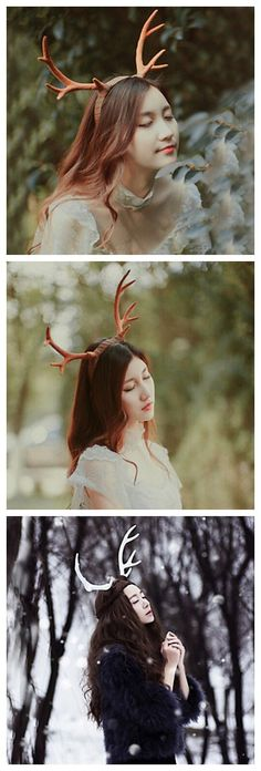 Large Antlers Headband to dress like a deer for the coming Christmas.