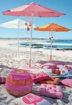 Boho Pink - Summer and day at the beach Playa Beach, Beach Bum, Summer Beach, Summer Fun, Pink Summer, Style Summer, Summer Chic, Summer Days, Beach Picnic