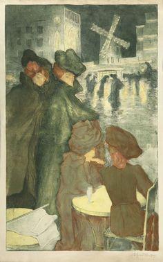 Alfredo Müller - Place Blanche (Four Women),1900.
