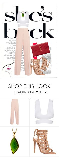 """Pink after work"" by sheisrebel ❤ liked on Polyvore featuring STELLA McCARTNEY, Carvela and Yves Saint Laurent"