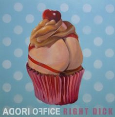 Right Dick - the new Adori Office single arrives to all the holes on 4 February 2014. Cover art painting by Fernando Cuevas, used by permission.