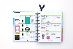 DIY stamped patterns inside the weekly boxes of The Happy Planner™ by mambi Design Team member Heather Adams   me & my BIG ideas