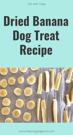 Did you know bananas are a good treat for your fur baby? They are high in fiber, magnesium, and multiple vitamins. The fiber can help your dog if he/she is having any gas problems and the magnesium can promote bone growth and help the body produce protein Liver Dog Treats, Puppy Treats, Diy Dog Treats, Homemade Dog Treats, Healthy Dog Treats, Frozen Dog Treats, Banana Dog Treat Recipe, Banana Treats, Dog Treat Recipes