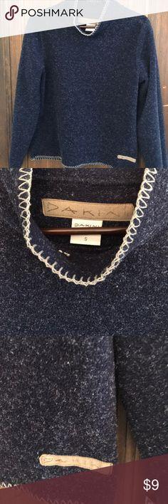 Dakini mock pullover indigo flocked Timeless pullover 90 polyester 10 rayon dakini Sweaters Cowl & Turtlenecks