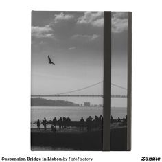 Suspension Bridge in Lisbon Black and White Photography Case For iPad Air