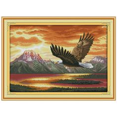 The flying eagle (2) Patterns Counted Cross Stitch 11CT 14CT Cross Stitch Sets Animals Cross Stitch Kits Embroidery Needlework(China (Mainland))
