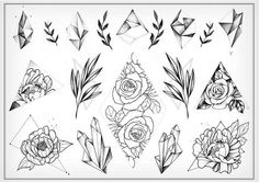 Tattoo artist Miss Sita One o nine tattoo Barcelona Instagram @misssita Geometry flowers botanical crystals