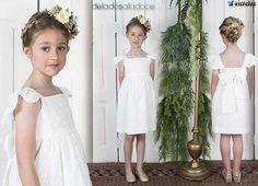 Deladosaladoce Little Girl Dresses, Little Girls, Girls Dresses, Flower Girl Dresses, White Dress, Wedding Dresses, Fashion, Kids Fashion Blog, Toddler Girl Dresses