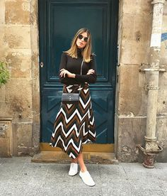 WEBSTA @ annarfasano - Sunny Paris ☀️ #ootd • malha @amarofashion saia @amolesalis tênis @osklen •