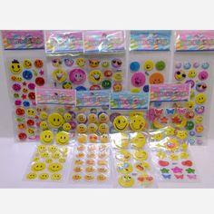 New kartun Anak-anak tersenyum wajah sticker decal inspirational perspektif gelembung hadiah stiker mainan