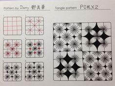 zentangle patterns how to draw - Google 搜尋