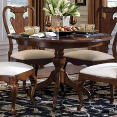 Ethan Allen Georgian Court Dining Table Table Includes