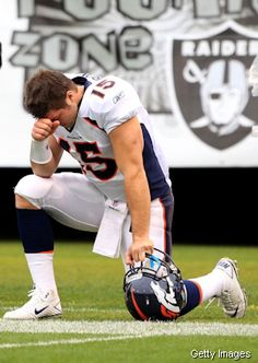 "tim tebow- first thing he says when being interviewed after games: ""First and foremost I've got to thank my Lord and Savior Jesus Christ "". He deserves so much more respect than he gets."