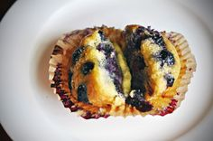 Gluten, dairy and soy free blueberry muffins.  Made them this morning and if you, like me, looked at this recipe and didn't believe muffins with 1/4 cup of coconut flour would actually turn out, think again!