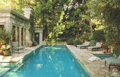 beautiful pool and landscape
