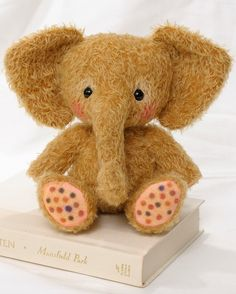 You can make your own Toffee the elephant (I prefer to call him an elephump). Hes a 9 bundle of cuteness! Toffee is made from ultra-sparse mohair and